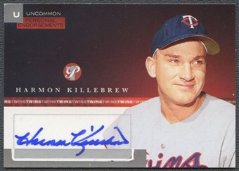 2005 Topps Pristine #HK Harmon Killebrew Personal Endorsements Uncommon Auto #169/247
