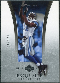 2005 Upper Deck Exquisite Collection #13 Roy Williams WR /150