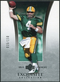2005 Upper Deck Exquisite Collection #15 Brett Favre /150