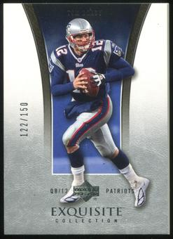 2005 Upper Deck Exquisite Collection #23 Tom Brady 122/150