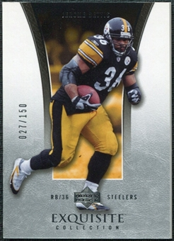 2005 Upper Deck Exquisite Collection #32 Jerome Bettis /150