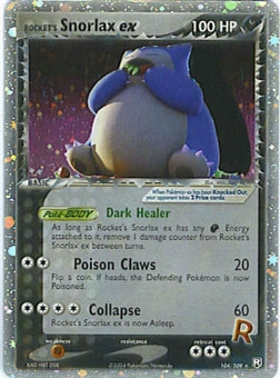 Pokemon Team Rocket Returns Single Snorlax ex 104/109