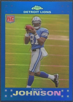 2007 Topps Chrome #TC200 Calvin Johnson Blue Refractor