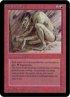 Magic the Gathering Alpha Single Sedge Troll UNPLAYED (NM/MT)