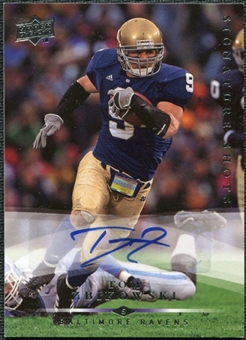 2008 Upper Deck Signature Shots #SS54 Tom Zbikowski Autograph
