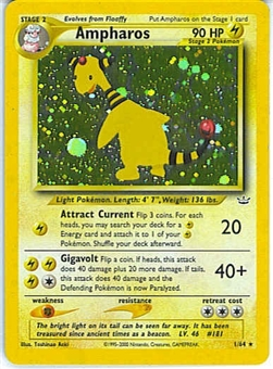Pokemon Neo Revelations Single Ampharos 1/64