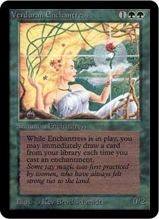 Magic the Gathering Alpha Single Verduran Enchantress - NEAR MINT (NM)
