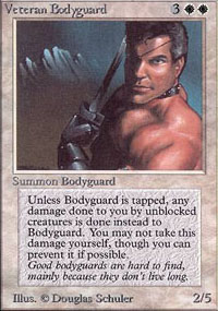 Magic the Gathering Alpha Single Veteran Bodyguard UNPLAYED (NM/MT)