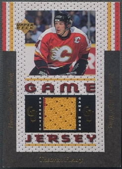 1996/97 Upper Deck #GJ12 Theo Fleury Game Jersey
