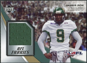 2006 Upper Deck AFL Fabrics #FAJR James Roe