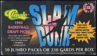 1993 Classic Slam Dunk Draft Picks Basketball Jumbo Box