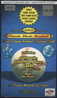 2001 Pacific Private Stock Baseball 2-Pack Hobby Box