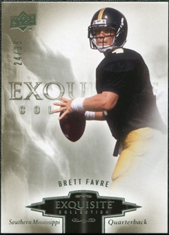 2010 Upper Deck Exquisite Collection #11 Brett Favre /35