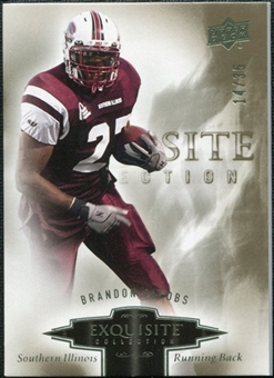 2010 Upper Deck Exquisite Collection #21 Brandon Jacobs /35