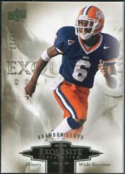 2010 Upper Deck Exquisite Collection #41 Brandon Lloyd /35