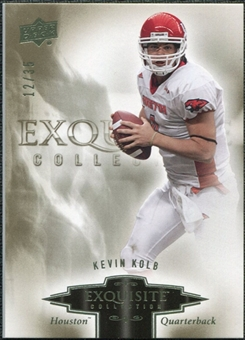 2010 Upper Deck Exquisite Collection #48 Kevin Kolb /35
