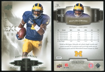 2010 Upper Deck Exquisite Collection #54 Braylon Edwards 19/35
