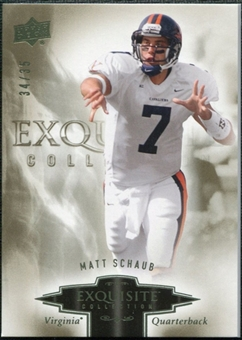 2010 Upper Deck Exquisite Collection #62 Matt Schaub /35
