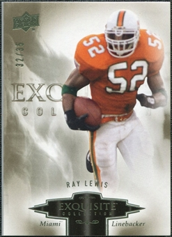 2010 Upper Deck Exquisite Collection #76 Ray Lewis /35