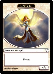 Magic the Gathering Avacyn Restored Single Angel - Demon Token Promo Foil
