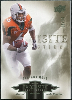 2010 Upper Deck Exquisite Collection #82 Santana Moss /35