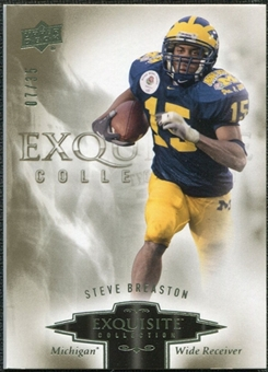 2010 Upper Deck Exquisite Collection #86 Steve Breaston /35