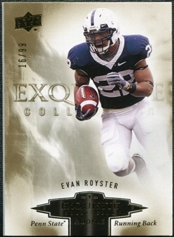 2010 Upper Deck Exquisite Collection Draft Picks #ERER Evan Royster /99