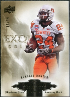 2010 Upper Deck Exquisite Collection Draft Picks #ERKH Kendall Hunter /99