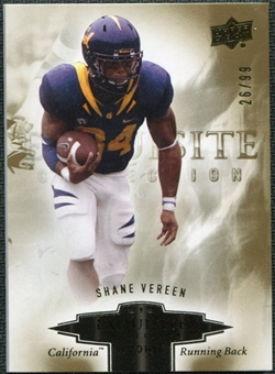 2010 Upper Deck Exquisite Collection Draft Picks #ERSV Shane Vereen /99