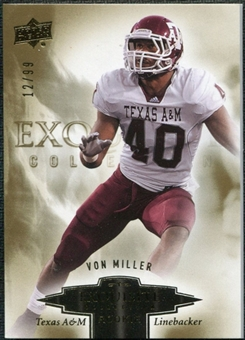 2010 Upper Deck Exquisite Collection Draft Picks #ERVM Von Miller /99