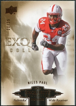 2010 Upper Deck Exquisite Collection Draft Picks Bronze #ERNP Niles Paul /25