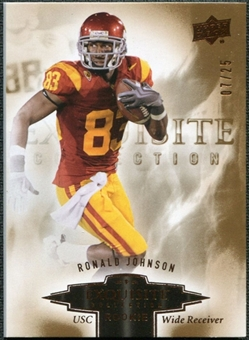 2010 Upper Deck Exquisite Collection Draft Picks Bronze #ERRJ Ronald Johnson /25