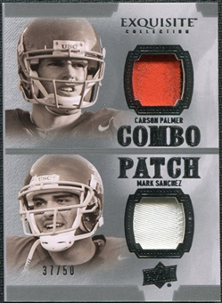 2010 Upper Deck Exquisite Collection Patch Combos #PS Mark Sanchez Carson Palmer /50