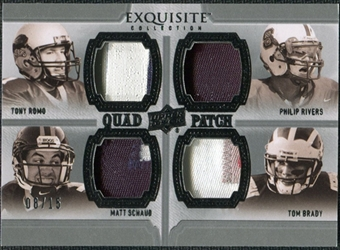 2010 Upper Deck Exquisite Collection Patch Quads #BRSR Matt Schaub Tony Romo Tom Brady Philip Rivers /15