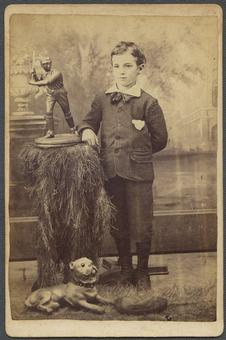 1800's Cabinet Card Child with Baseball Trophy O. D. Edwards Photo