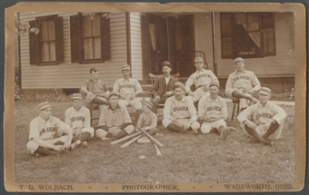 1800's Cabinet Card Wadsworth Ohio Wadsworth Baseball Team