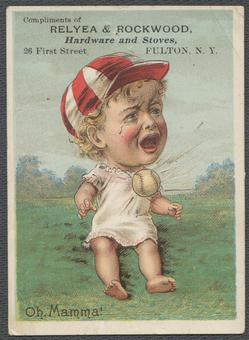 Relyea & Rockwood Hardware and Stoves Oh! Mamma! Baby Anson Baseball Card
