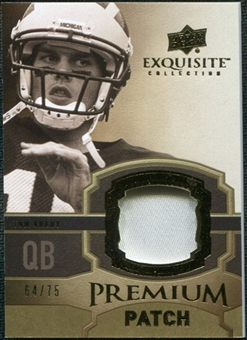 2010 Upper Deck Exquisite Collection Premium Patch #EPPBR Tom Brady /75