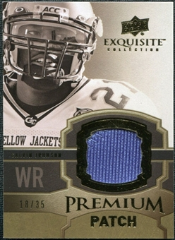 2010 Upper Deck Exquisite Collection Premium Patch #EPPCJ Calvin Johnson /35