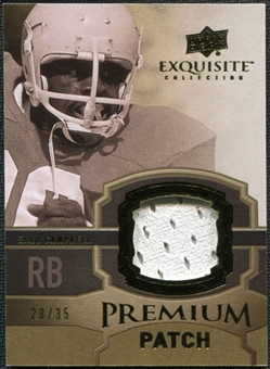 2010 Upper Deck Exquisite Collection Premium Patch #EPPEC Earl Campbell /35