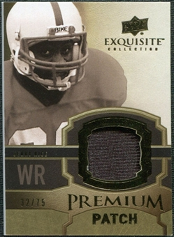 2010 Upper Deck Exquisite Collection Premium Patch #EPPJR Jerry Rice /75