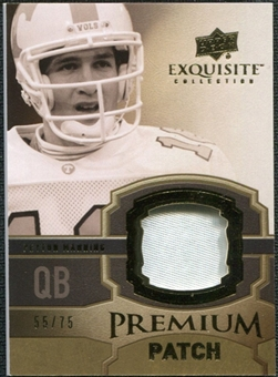 2010 Upper Deck Exquisite Collection Premium Patch #EPPPM Peyton Manning /75