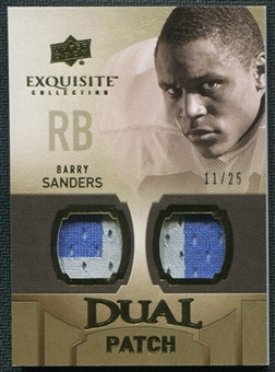 2010 Upper Deck Exquisite Collection Single Player Dual Patch #EDPBS Barry Sanders 11/25