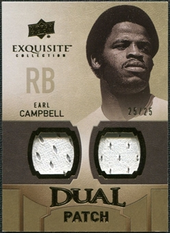 2010 Upper Deck Exquisite Collection Single Player Dual Patch #EDPEC Earl Campbell /25