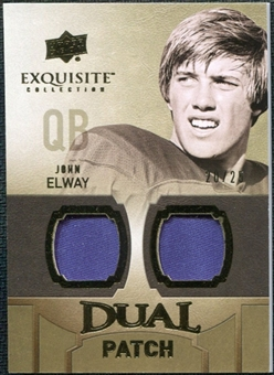 2010 Upper Deck Exquisite Collection Single Player Dual Patch #EDPJE John Elway /25
