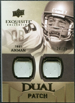 2010 Upper Deck Exquisite Collection Single Player Dual Patch #EDPTA Troy Aikman /25