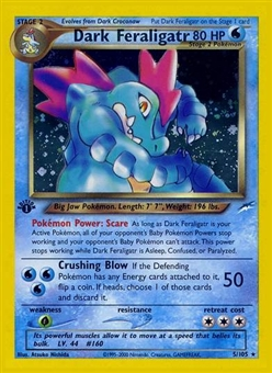 Pokemon Neo Destiny 1st Edition Single Dark Feraligatr 5/105