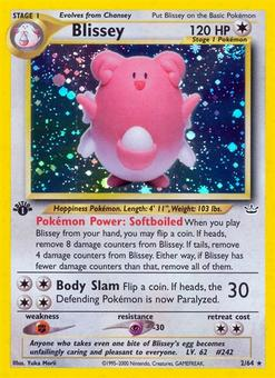 Pokemon Neo Revelations 1st Edition Single Blissey 2/64