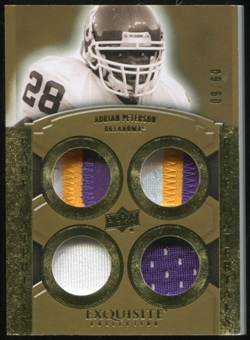 2010 Upper Deck Exquisite Collection Rare Materials #ERMAP Adrian Peterson 9/60