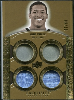 2010 Upper Deck Exquisite Collection Rare Materials #ERMAR Andre Roberts /60